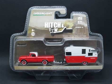 Greenlight Hitch Tow Dodge D 100 diecast hobbist greenlight hitch and tow series 4