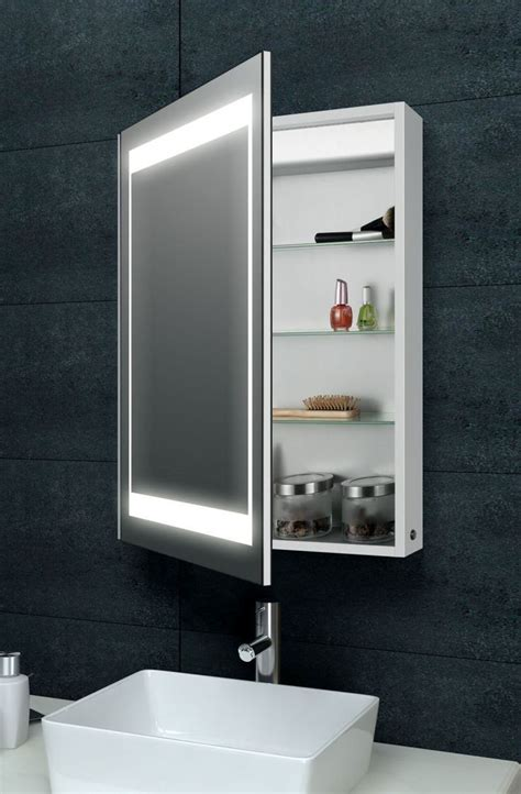 Illuminated Mirror Bathroom Illuminated Bathroom Mirror Cabinet B Q Reversadermcream