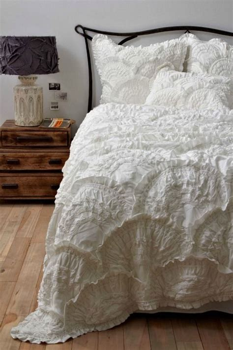 pretty white comforters love white bedspreads from birch and bird inspire my
