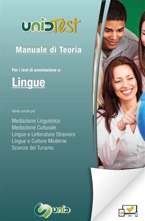 test lingue manuale di teoria per il test di ammissione a lingue