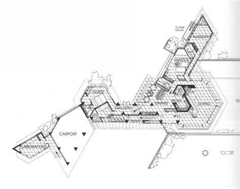kentuck knob floor plan frank lloyd wright the wall house plans sections