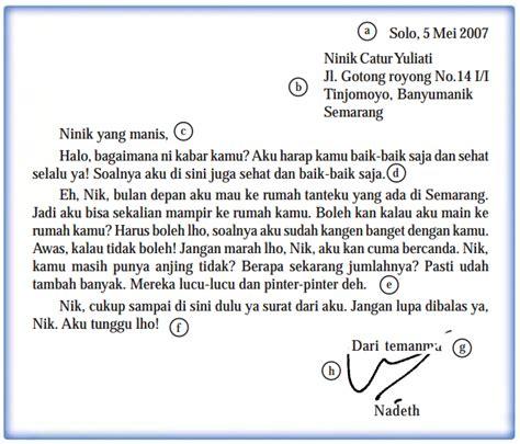 surat pribadi dalam bahasa inggris belajaringgris
