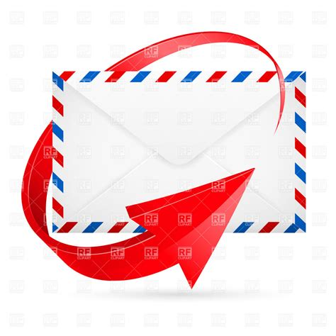 eps international mail airmail envelope envelope with red arrow around vector image vector artwork of objects 169 dvarg