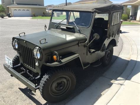 mitsubishi jeep for sale 1961 mitsubishi cj3b j4 us m606 jeep diesel for sale