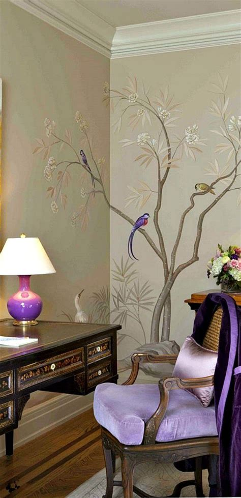 modern interior design with fresco wall murals inspired by 1000 ideas about purple accents on pinterest bedroom