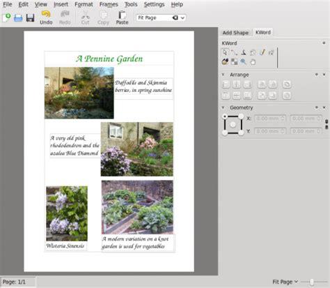 photo layout with captions kword tutorials thirdlayout kde userbase wiki