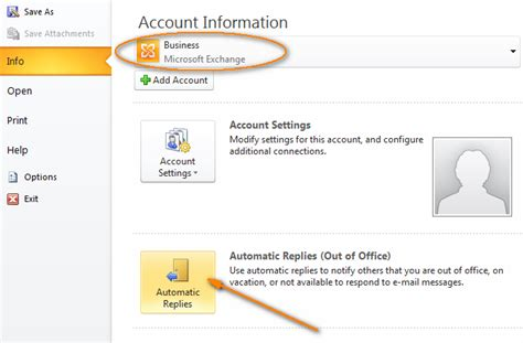 Out Of Office In Outlook 2013 by Outlook Auto Reply Set Up Out Of Office Autoresponse In