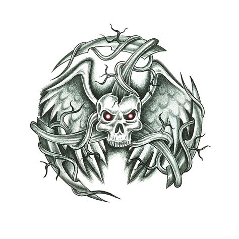 wicked skull tattoo designs evil skull design by jsharts on deviantart