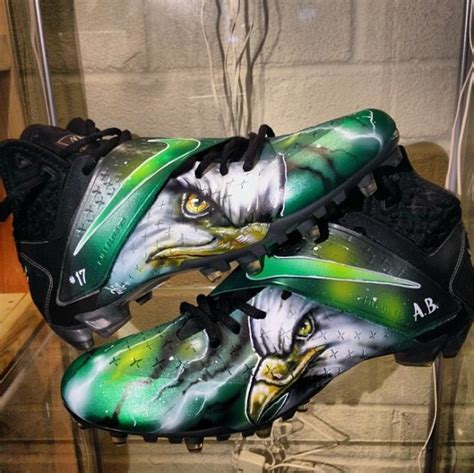 custom football shoes nike cj cleats quot birdgang quot customs for arrelious benn by