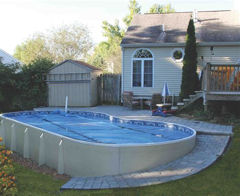 "EcoWave Freeform 52"" Semi Inground Pool at The Great Escape"