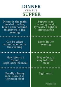 what is the difference between a and a sofa difference between dinner and supper definition