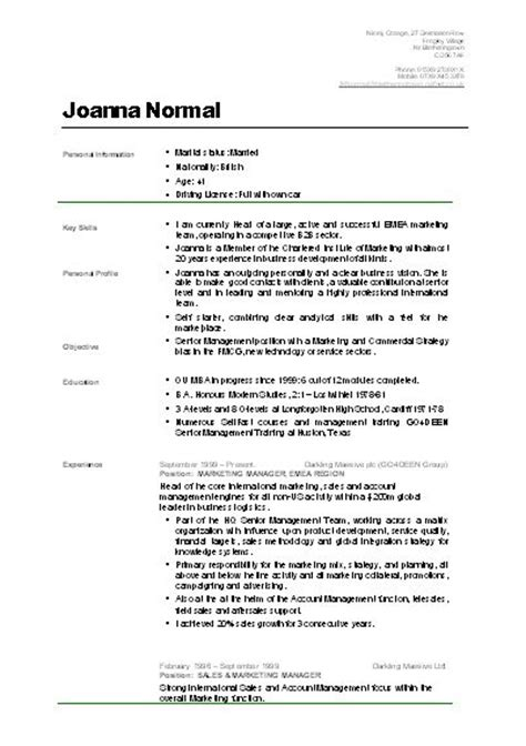 Cv Template Uk The World S Catalog Of Ideas