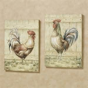 Rooster Wall Decor by Royale Rooster Wall Plaque Set