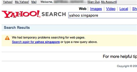 yahoo email unavailable yahoo search is unavailable