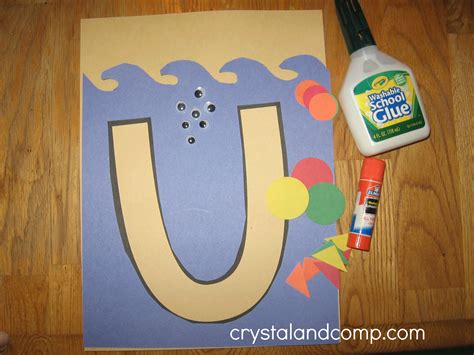 craft activity for letter of the week u preschool craft