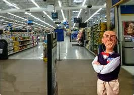 Walmart Door Greeter by View From The Northern Wall Stand Up