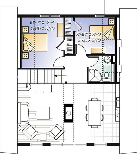 3 Bedroom A Frame House Plans by Three Bedroom A Frame House Plan
