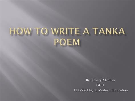 how to write a tanka poem