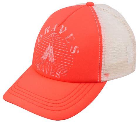 billabong vibes s trucker hat coral