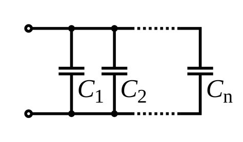 capacitor circuit wiki file capacitors in parallel svg wikibooks open books for an open world