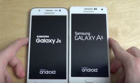samsung galaxy a5 vs samsung galaxy j5 and display