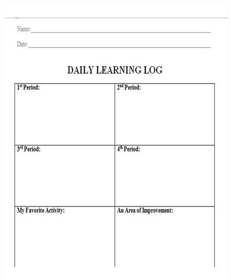 avid learning log template avid learning log template image collections template