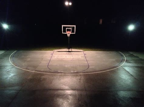 These Night Lights Are So Bright And Makes Basketball Fun