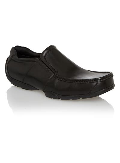 Black Master Boots Slip On Black mens black slip on leather shoes tu clothing