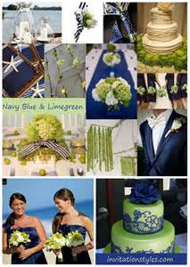 navy blue wedding color schemes navy blue and green wedding color scheme