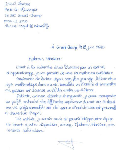 Lettre De Motivation Stage Librairie Livre Et Lecture En Bretagne 187 Candidath 232 Que