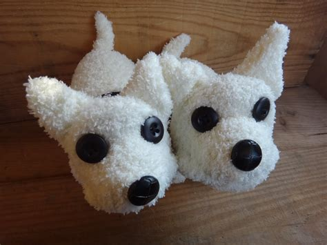 dogs in socks s crafty custom westie sock dogs