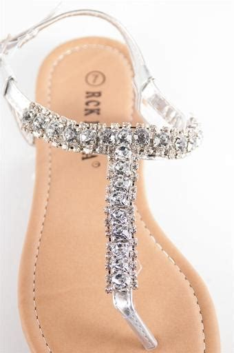A C C E P T Merilee Flat Shoes glitzy jeweled sandals from lucky 21 inc
