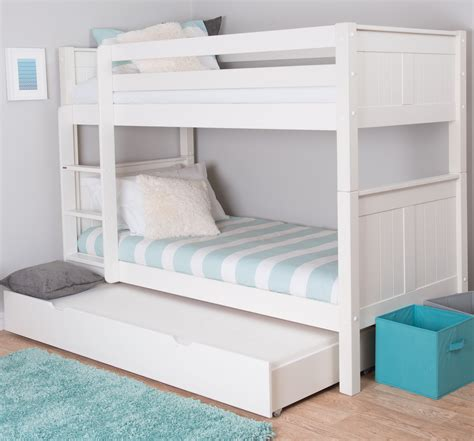Bunk Beds Bedroom Classic Bunk Bed With Trundle Bed By Stompa