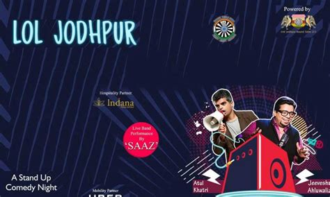 bookmyshow jodhpur lol jodhpur some top notch stand up comedy at your