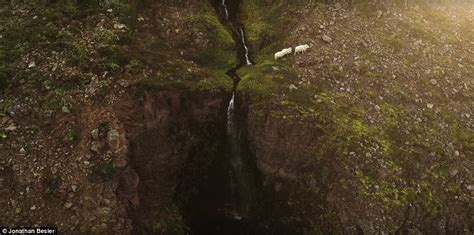 grass frantically stunning drone footage of iceland s scenic landscape express digest