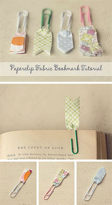 How To Make Paper Clip Bookmark - fabric paperclip bookmark diy craft