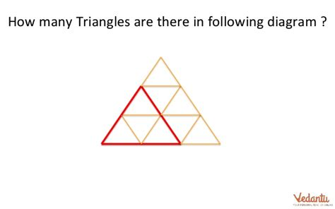 how many triangles are there in this diagram test your mental aptitude vedantu