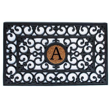 Doormats With Initials by Rubber Monogram Doormat Callowaymills