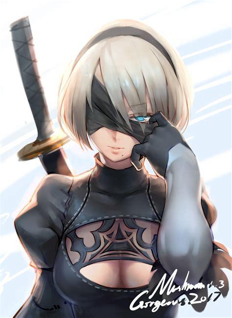 Kaos Anime Nier Automata 2b anime 4000x5500 cleavage nier automata nier 2b nier
