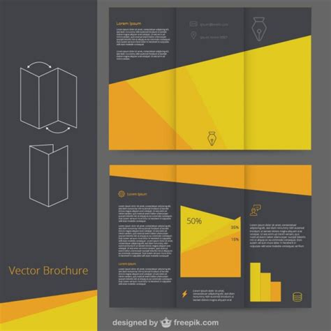 black brochure template black and yellow brochure template vector free