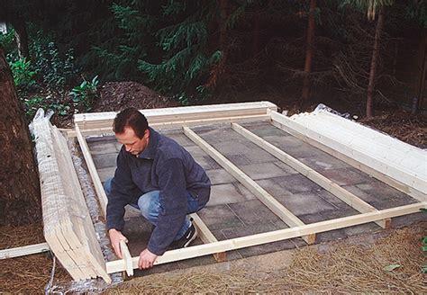 Veranda Unterkonstruktion by Gartenhaus Bauen Und Aufstellen Mit Der Anleitung Obi