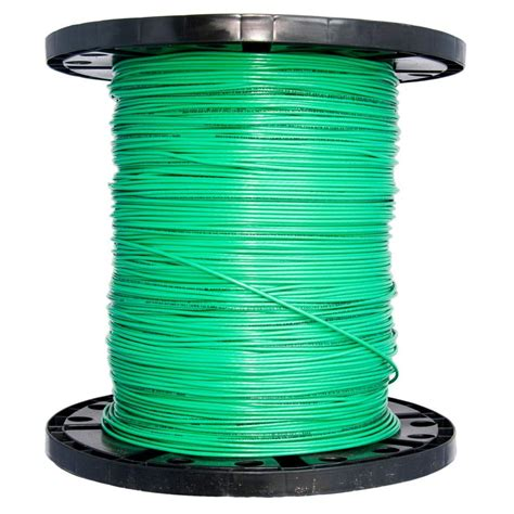 southwire 2500 ft 14 green solid cu thhn wire 11583205
