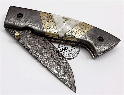 damascus folding knives for sale damascus folding liner lock knife beautiful damascus folding