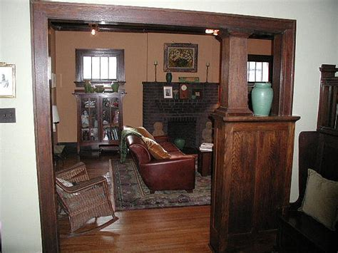 room colonnade craftsman living room with colonnade built in house interiors early 1900s