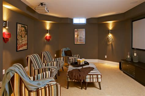 media room paint colors home theater contemporary