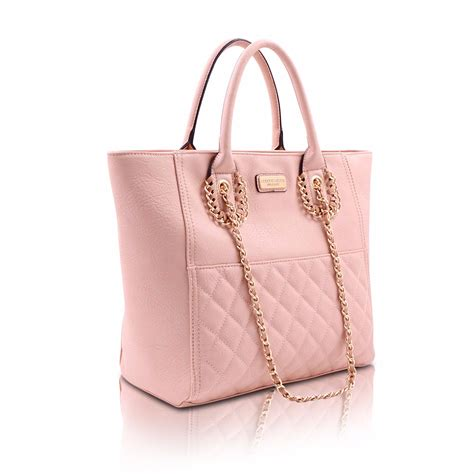 The Pink Bag pink tote bag colette green quilted tote bag