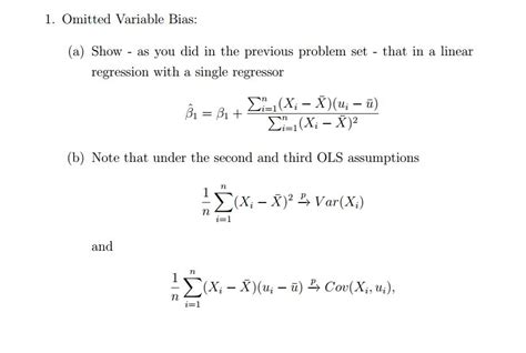 i omitted 1 omitted variable bias a show as you did in t