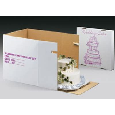 Wedding Cake Delivery Boxes by Decopac Tiered Cake Delivery Cartons