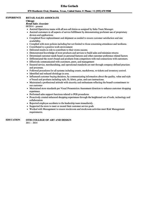 resume objective sales associate sidemcicek com