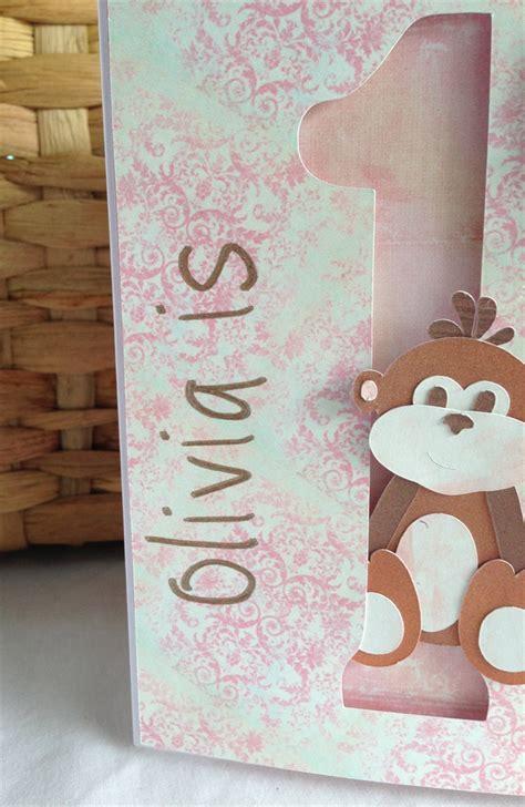 Handmade 1st Birthday Cards - handmade personalised 1st birthday card monkey
